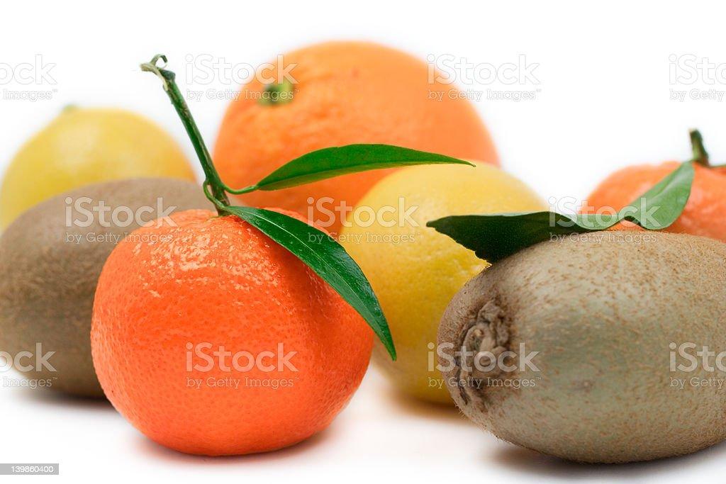 Various fruit against white background royalty-free stock photo