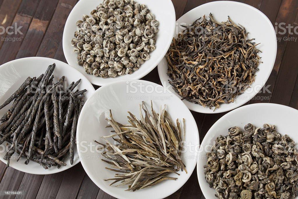 Various grades of tea royalty-free stock photo