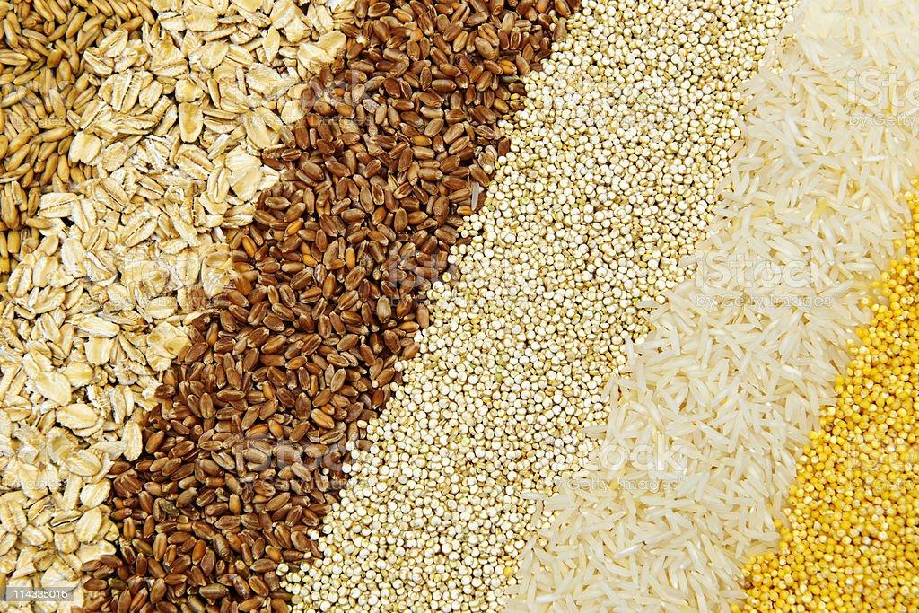 Various grains close up royalty-free stock photo