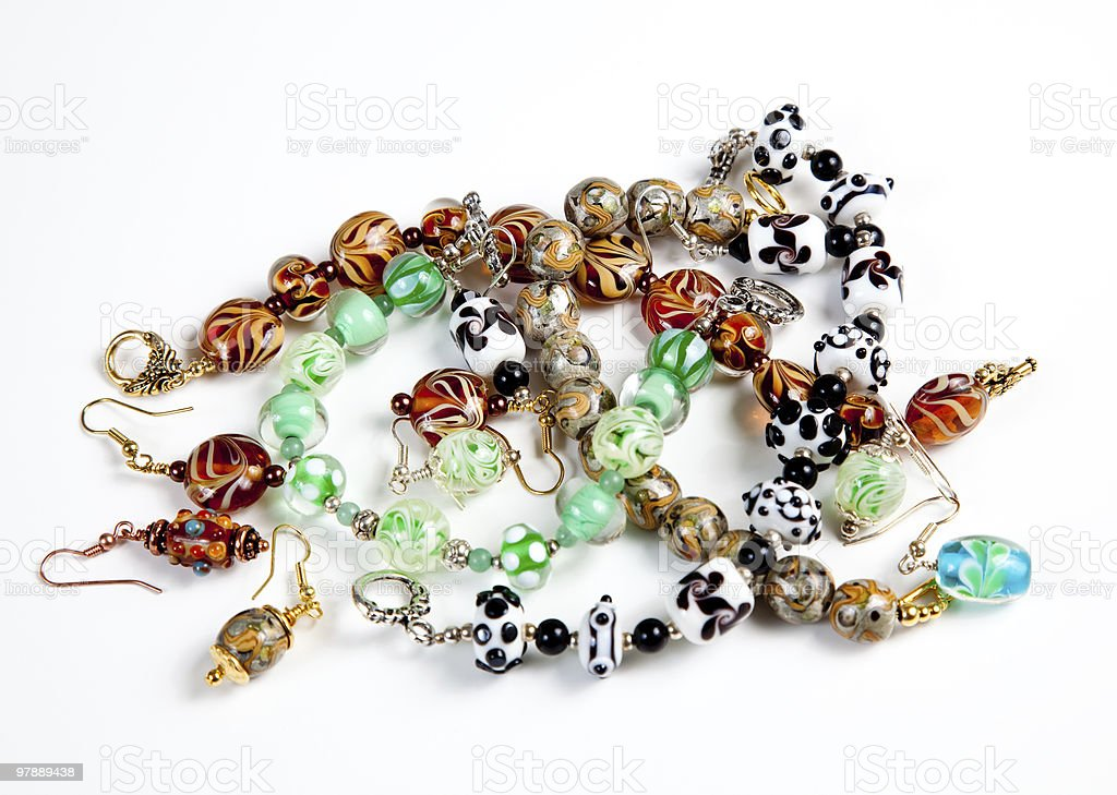 Various hand made bracelets royalty-free stock photo