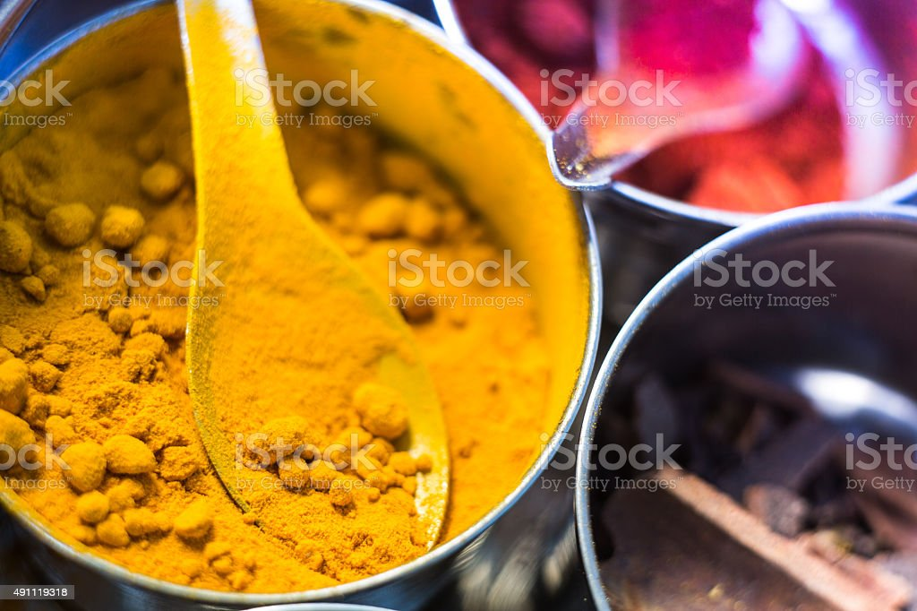 Various Indian spices stock photo