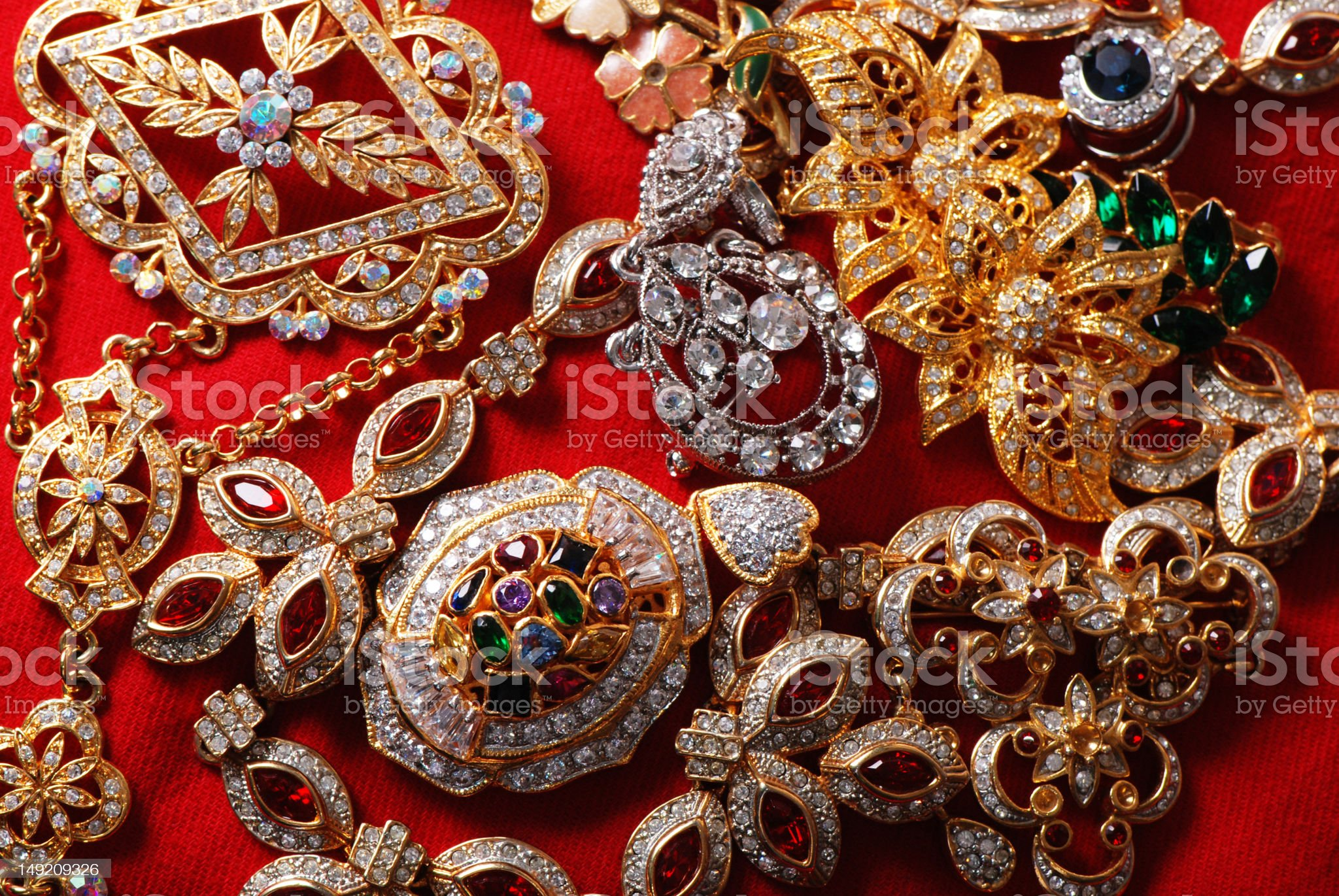 Various jeweleries royalty-free stock photo