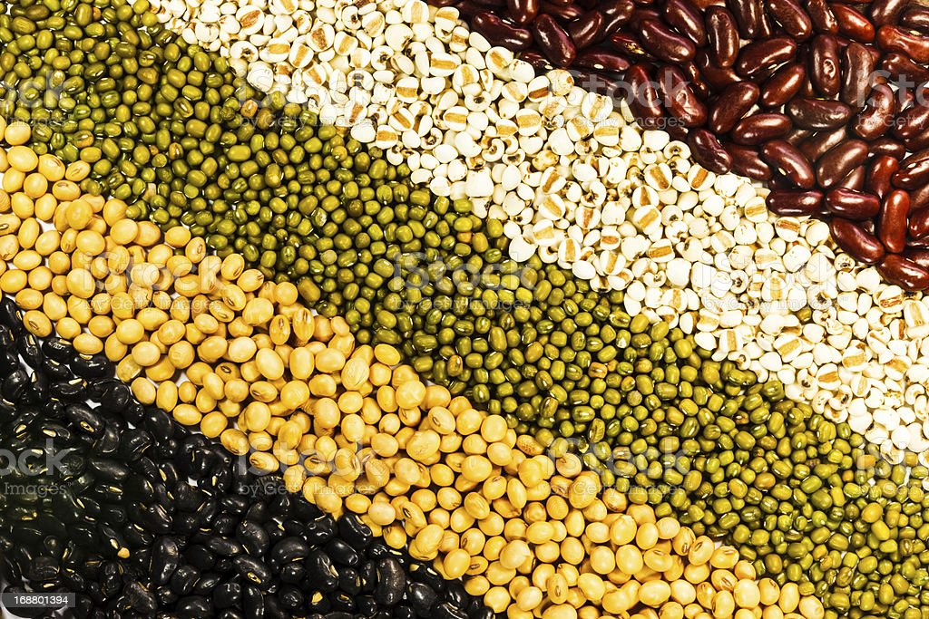 Various kinds of beans royalty-free stock photo
