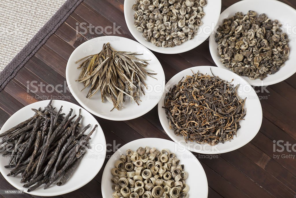Various kinds of tea royalty-free stock photo