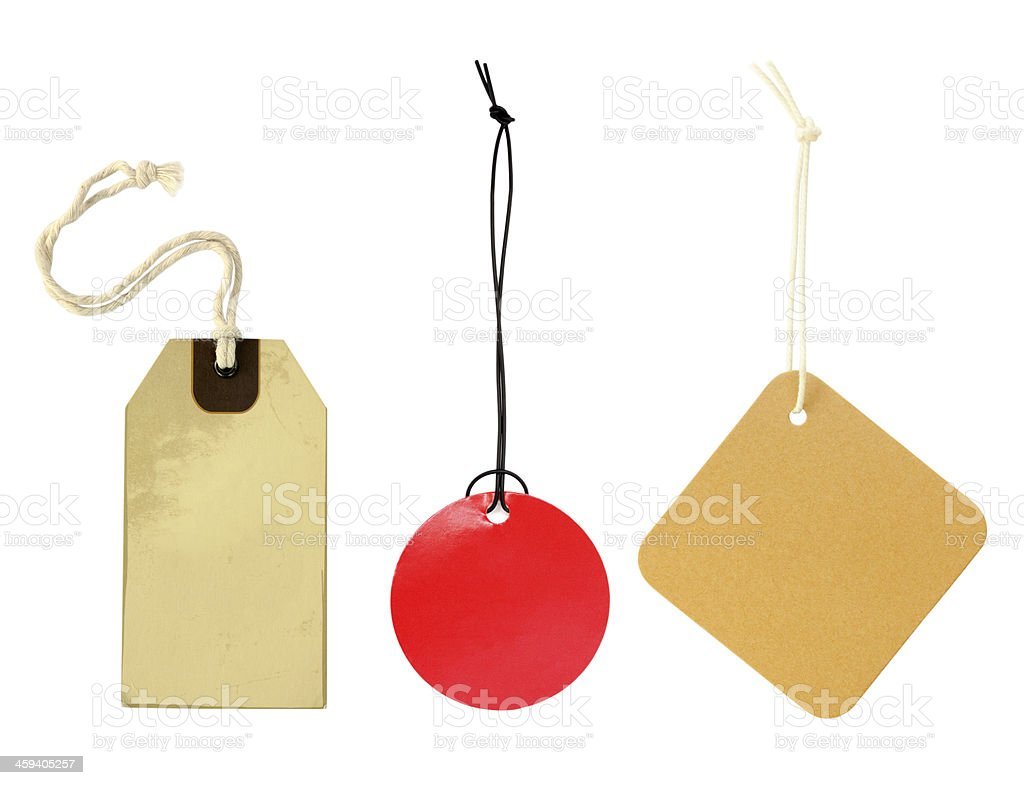 Various label on white background royalty-free stock photo