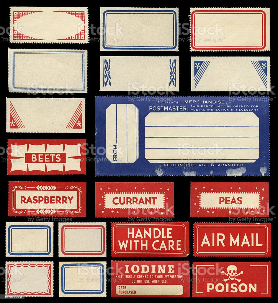 various labels royalty-free stock photo