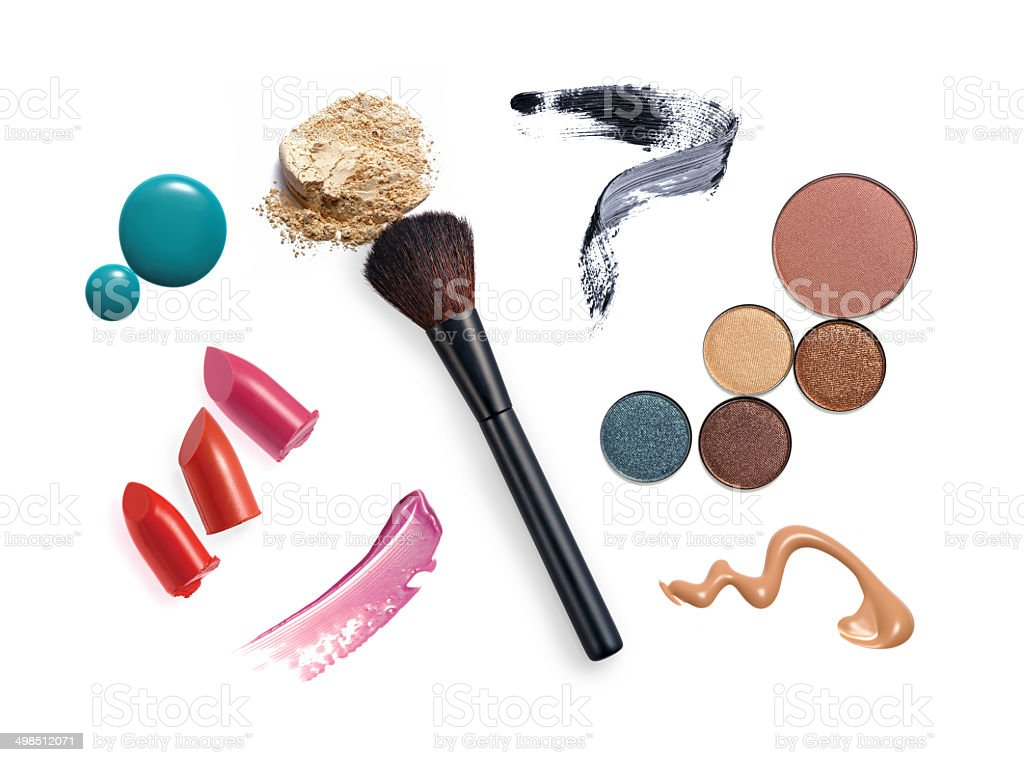 Various make-up and cosmetics products royalty-free stock photo
