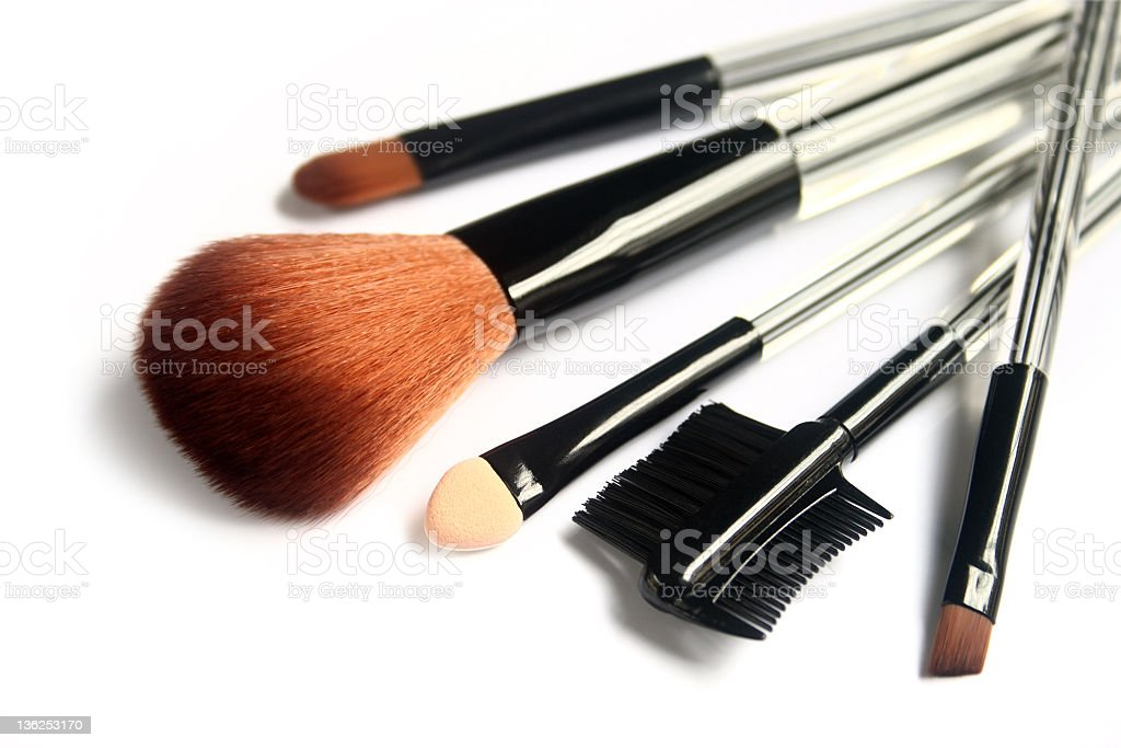 Various make-up brushes royalty-free stock photo