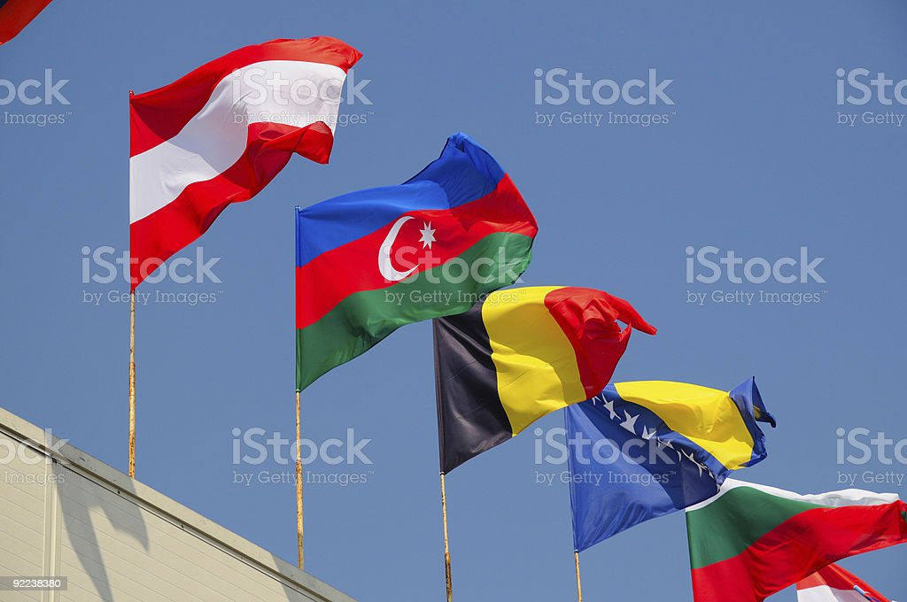 various national flags royalty-free stock photo