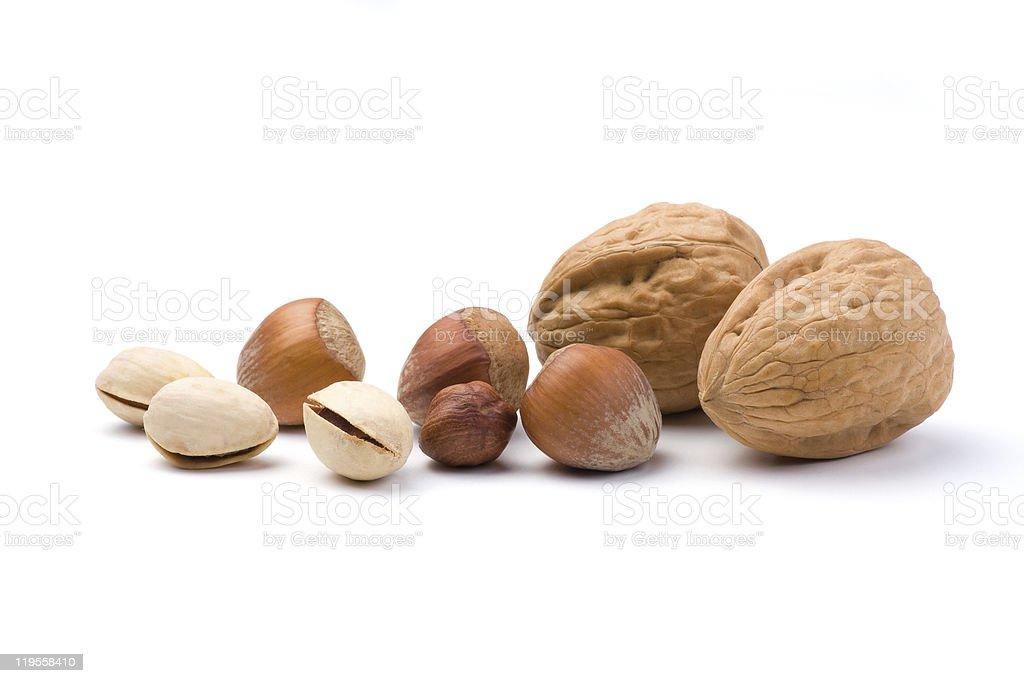 Various nuts royalty-free stock photo