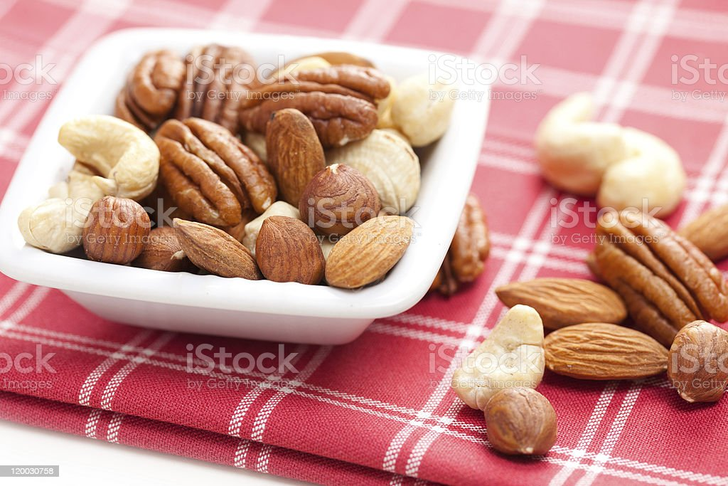 various nuts royalty-free stock photo