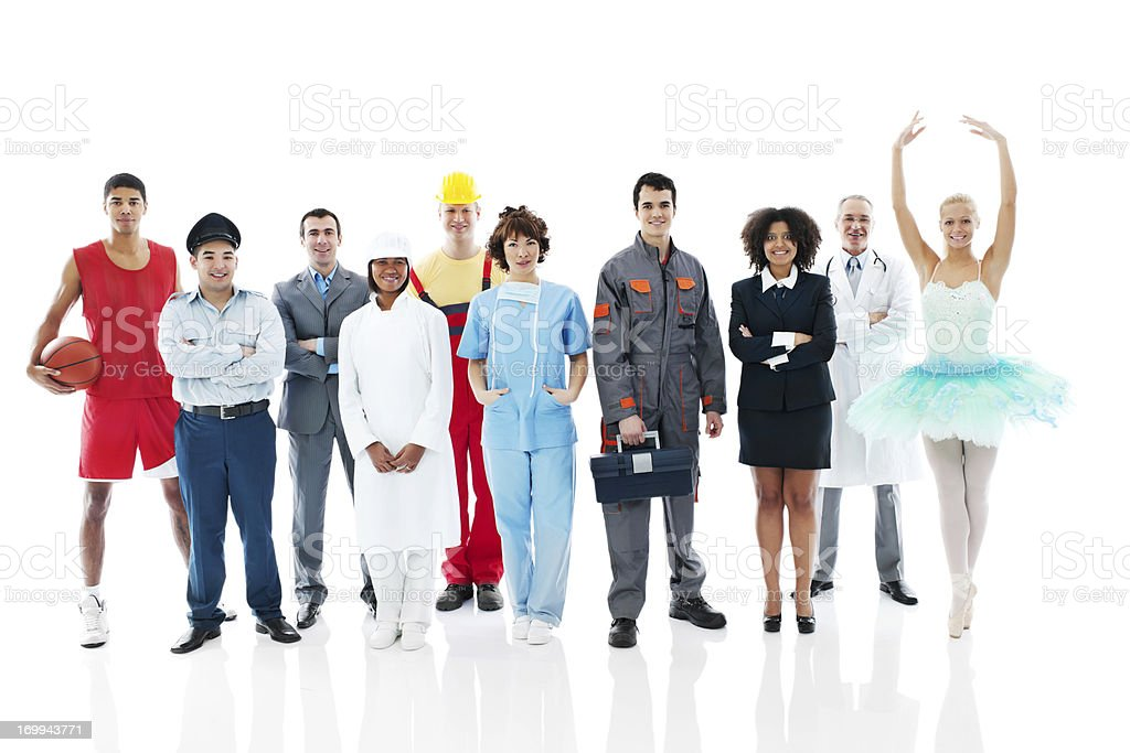 Various Occupations. stock photo