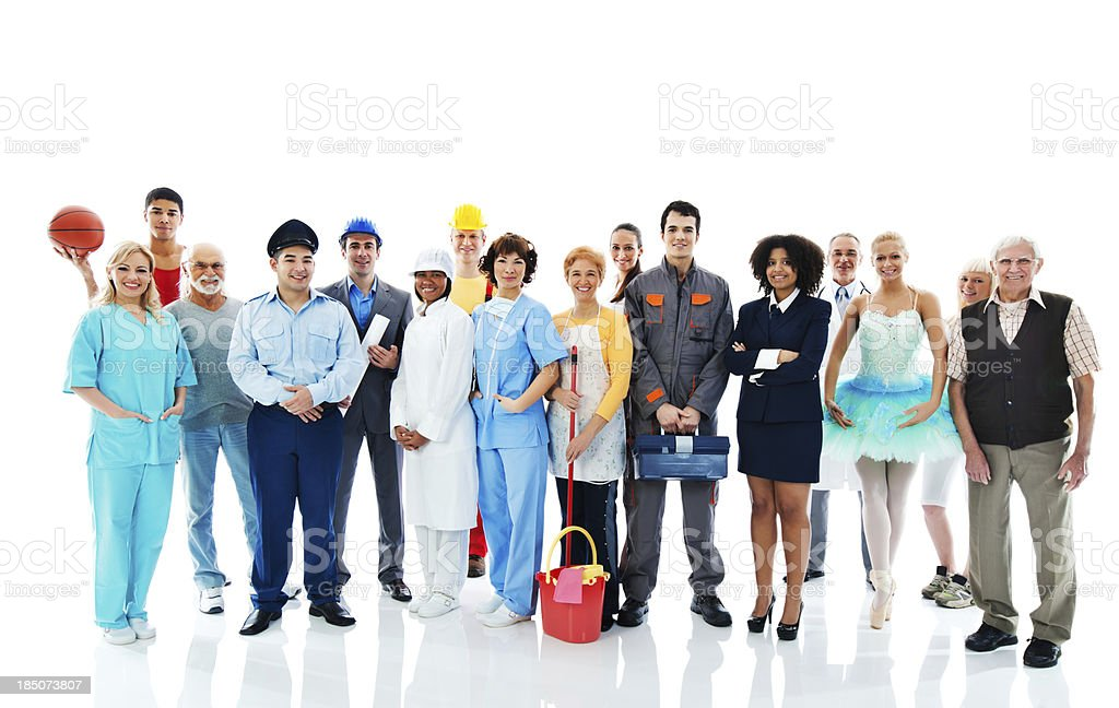 Various Occupations. royalty-free stock photo