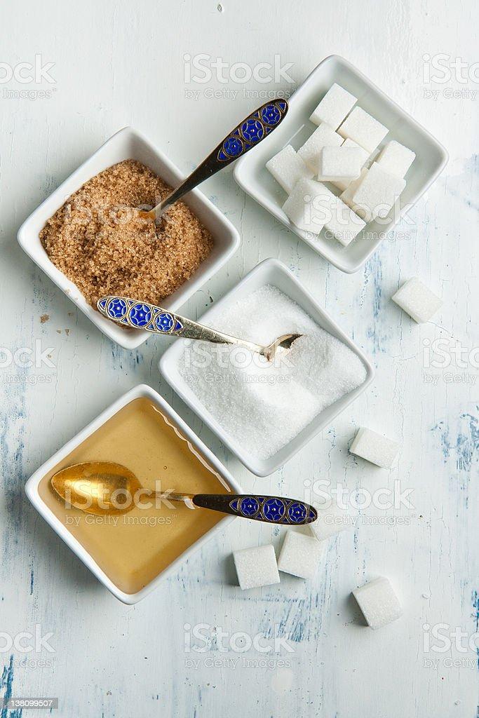 Various of sugar stock photo