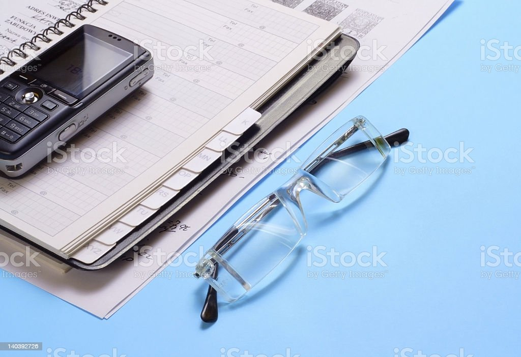 various office supplies royalty-free stock photo