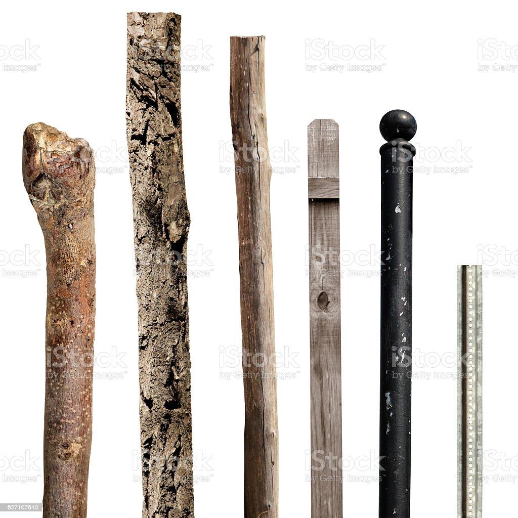 various pole stock photo