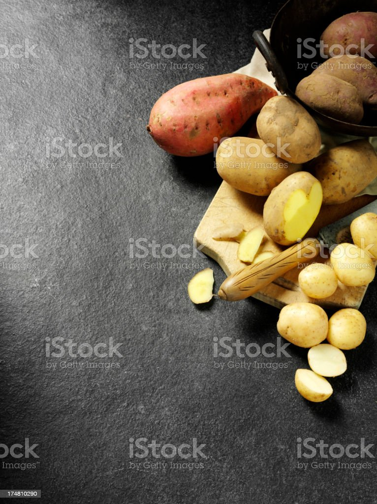 Various Potato Varieties royalty-free stock photo
