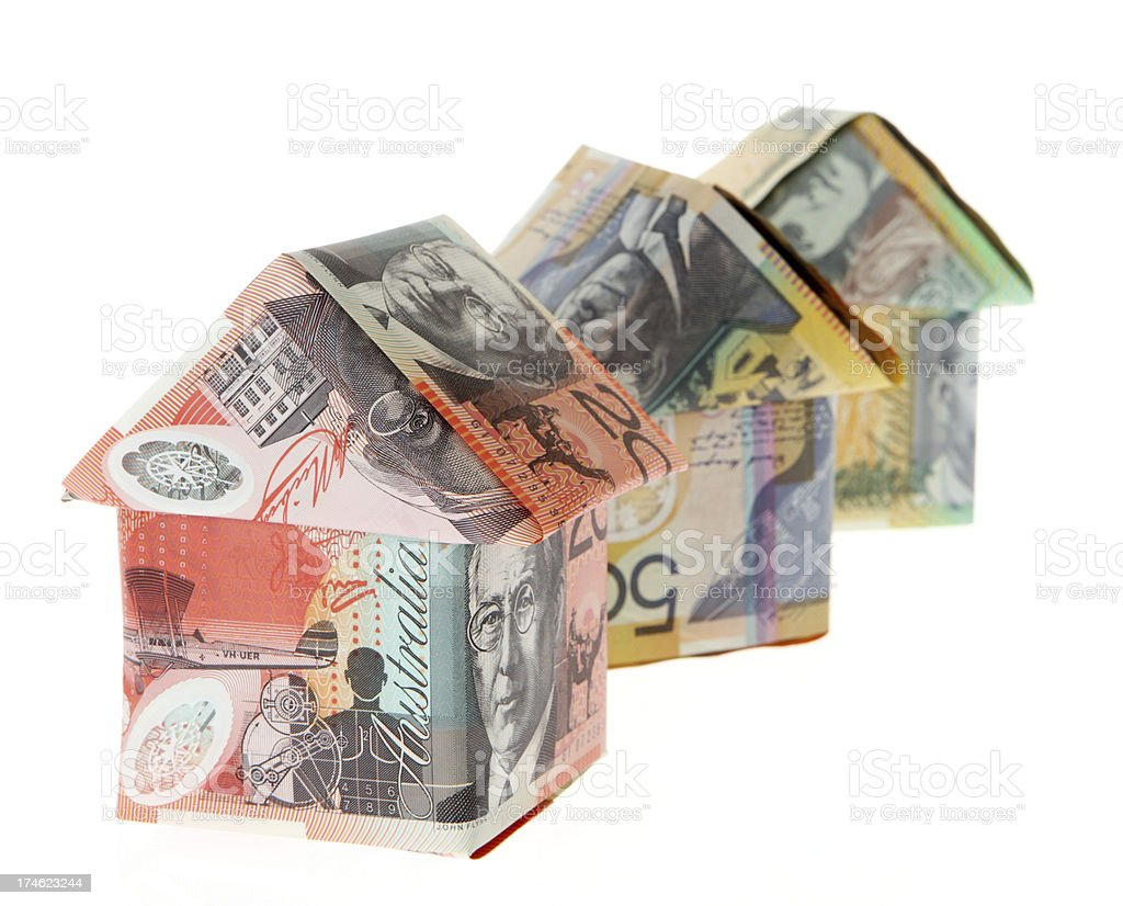 Various Priced Houses royalty-free stock photo