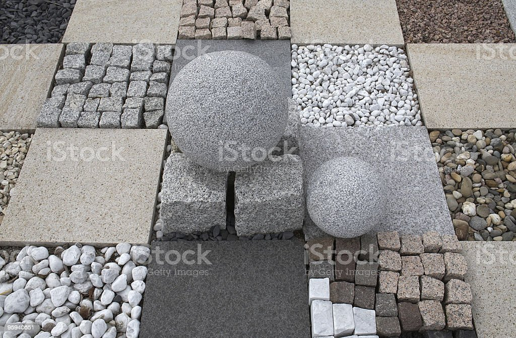 various processed stones royalty-free stock photo