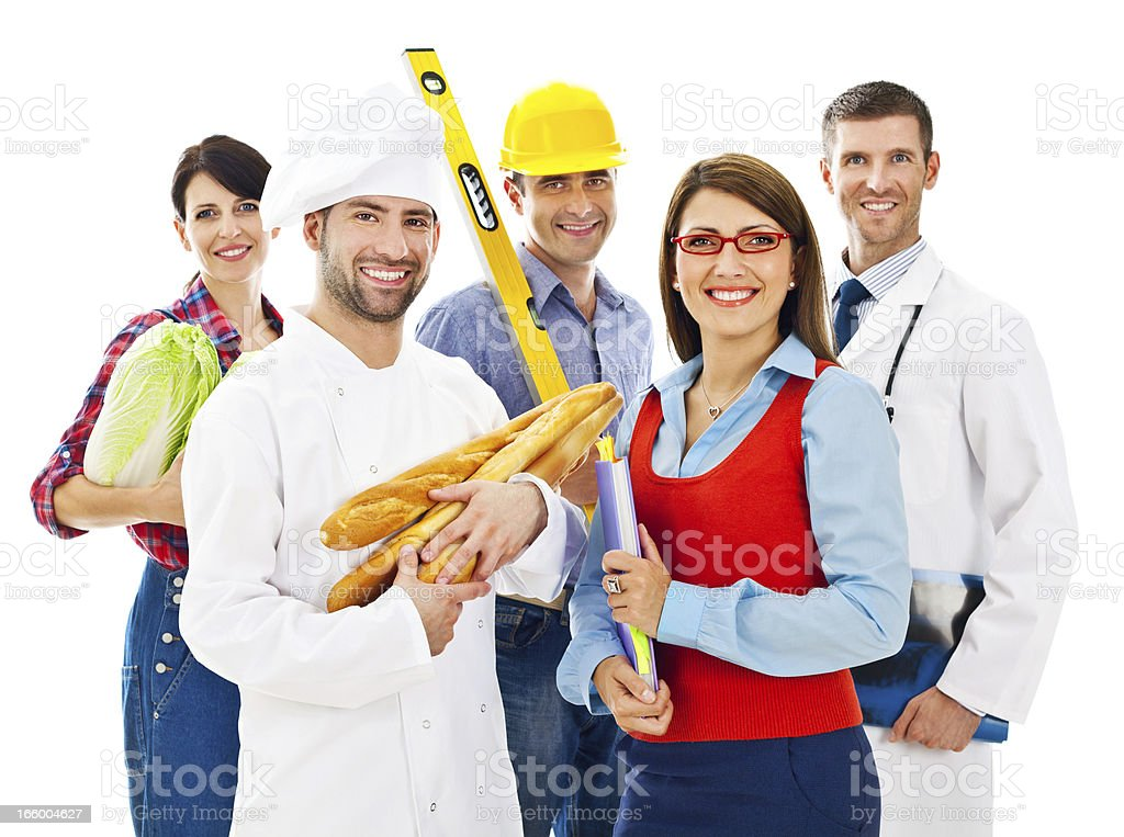 Various professions stock photo