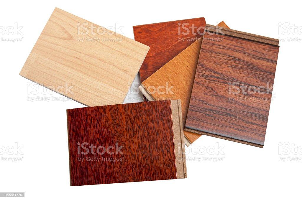 Various samples of hardwood floor stock photo