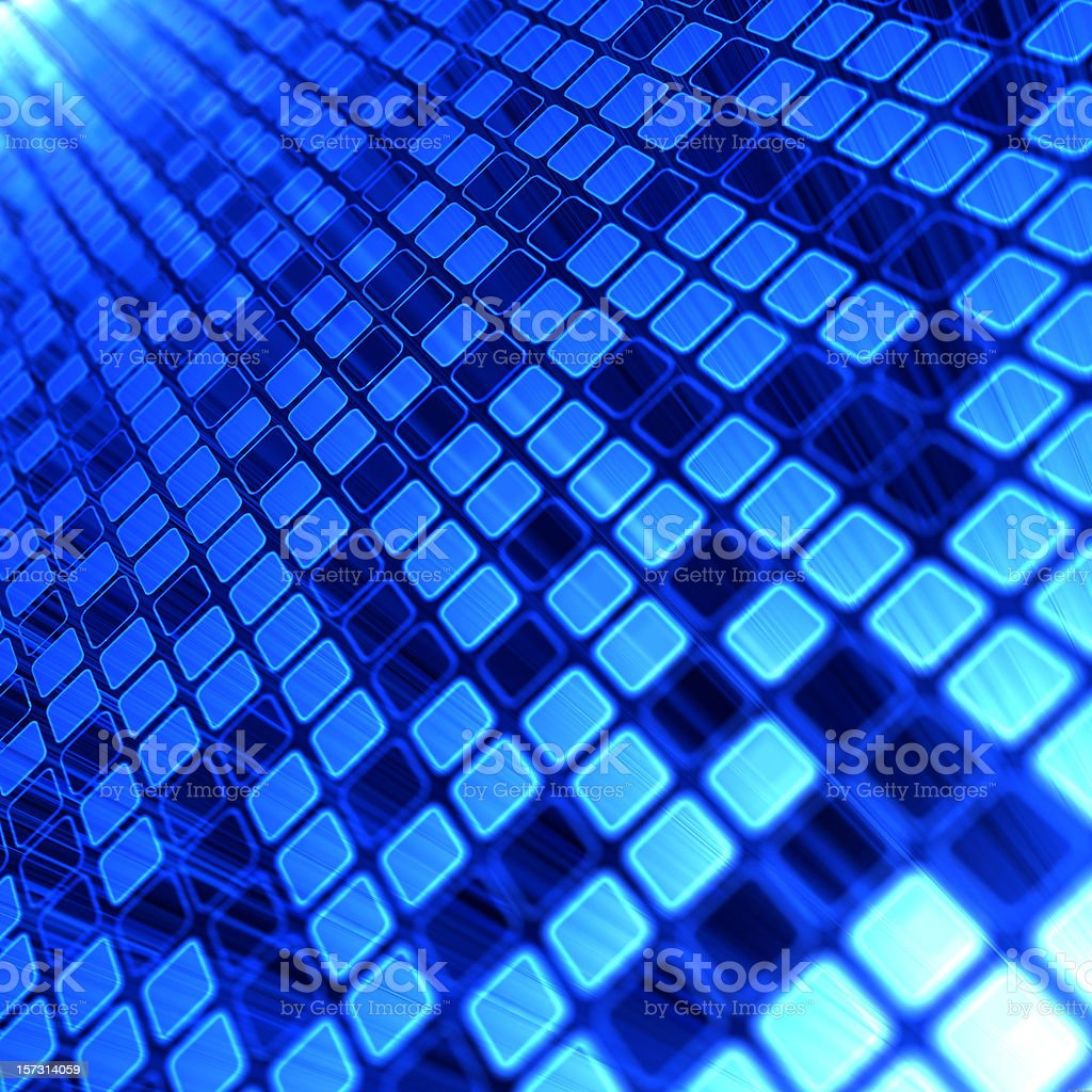 Various shades of blue squares lined up royalty-free stock photo