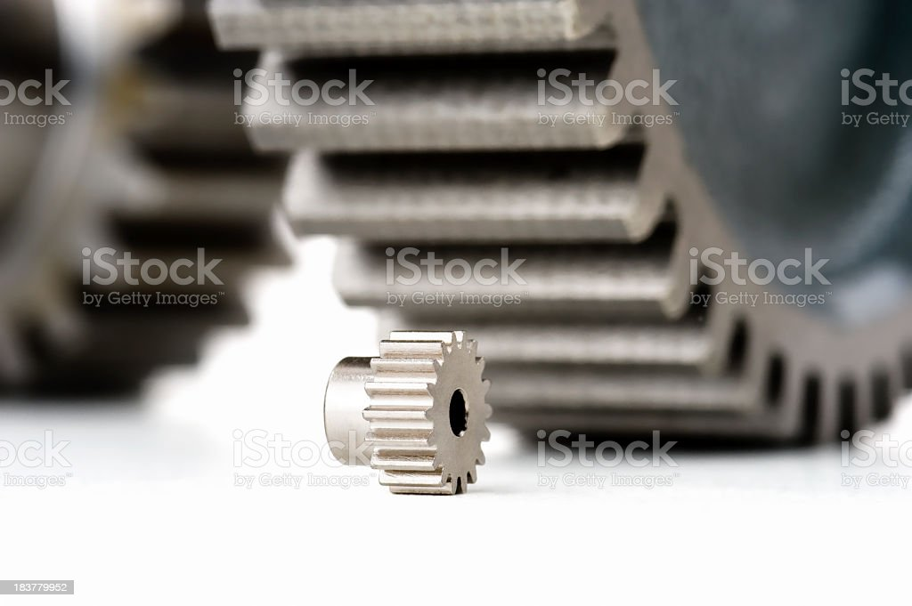 various size gears stock photo