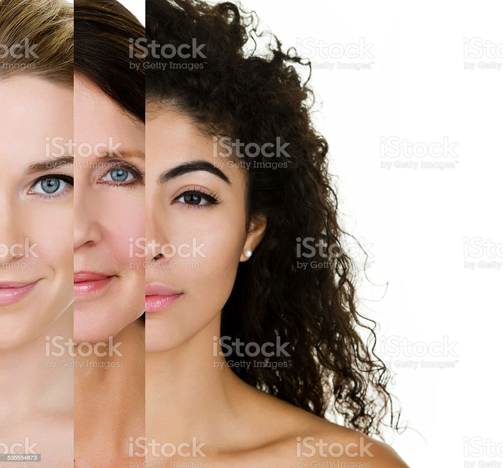 Various skin types stock photo