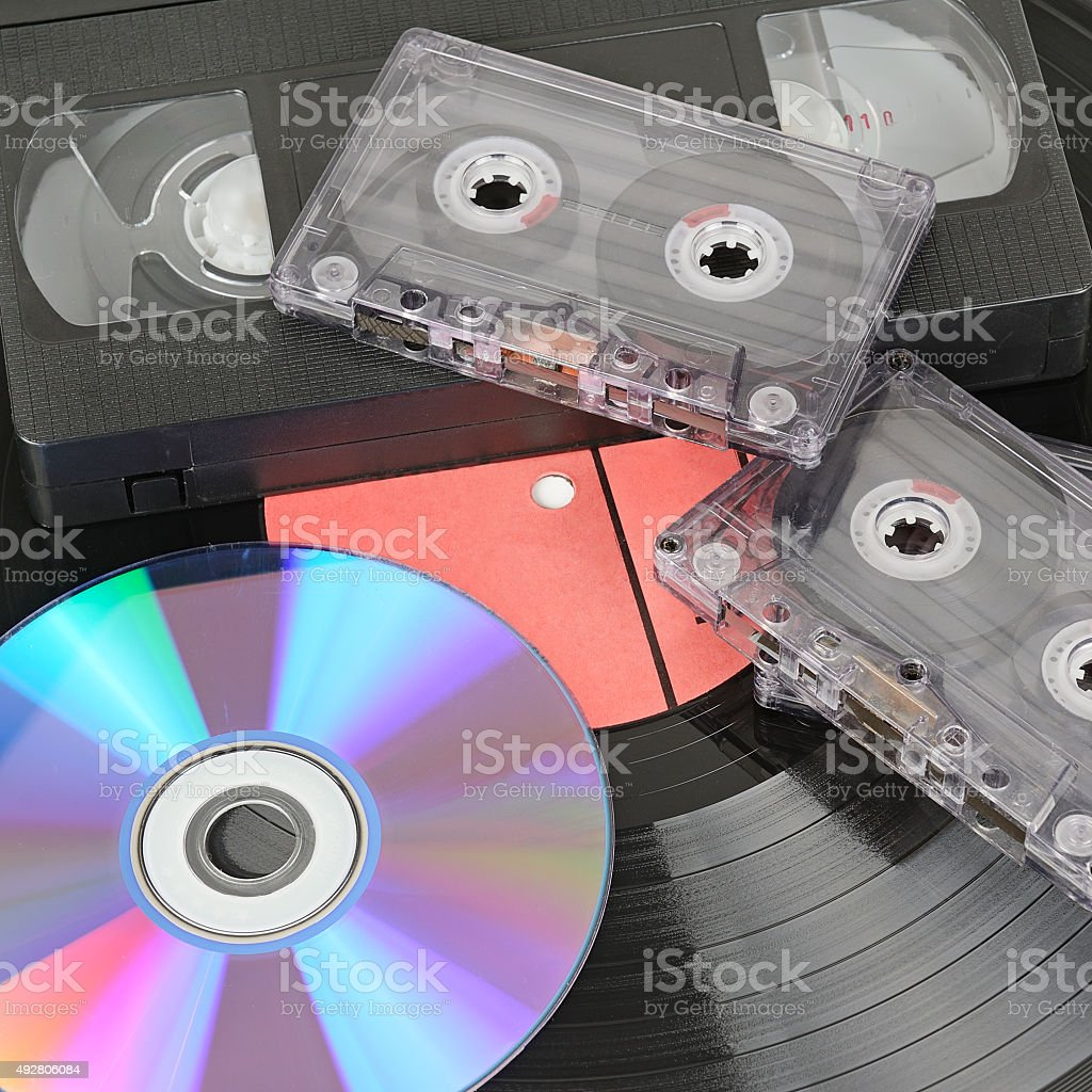 various storage media stock photo
