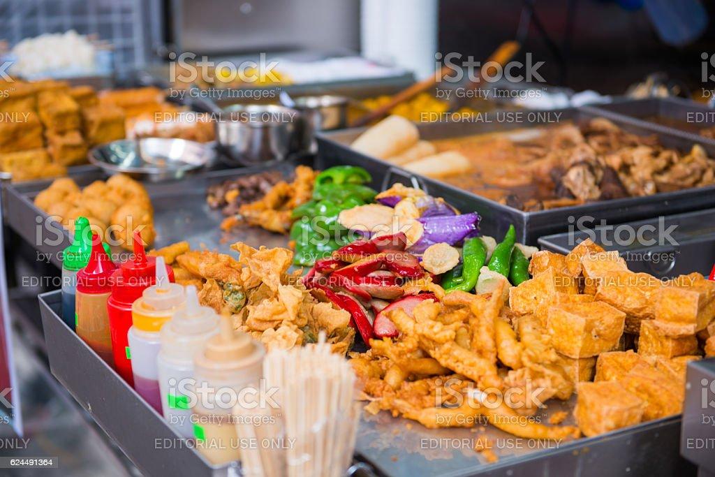various street food in Hong Kong stock photo