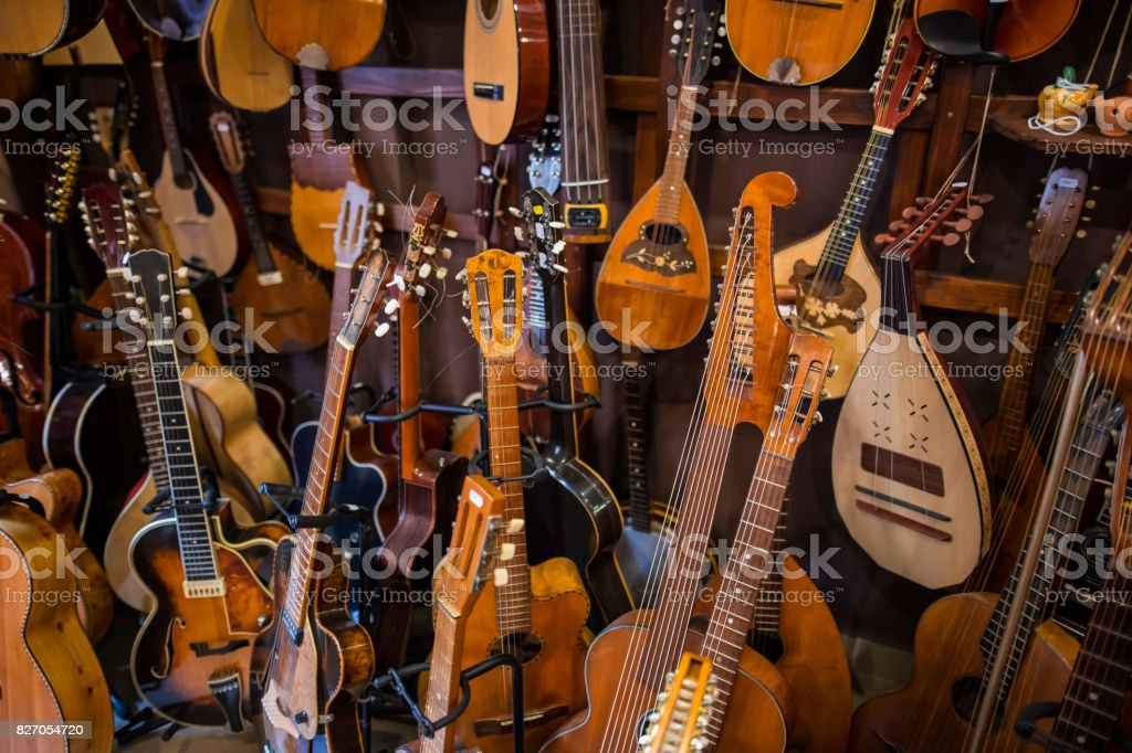 Various string instruments stock photo