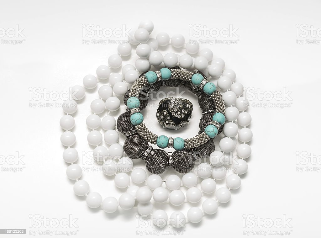 various Stylish fashiond jewelry stock photo