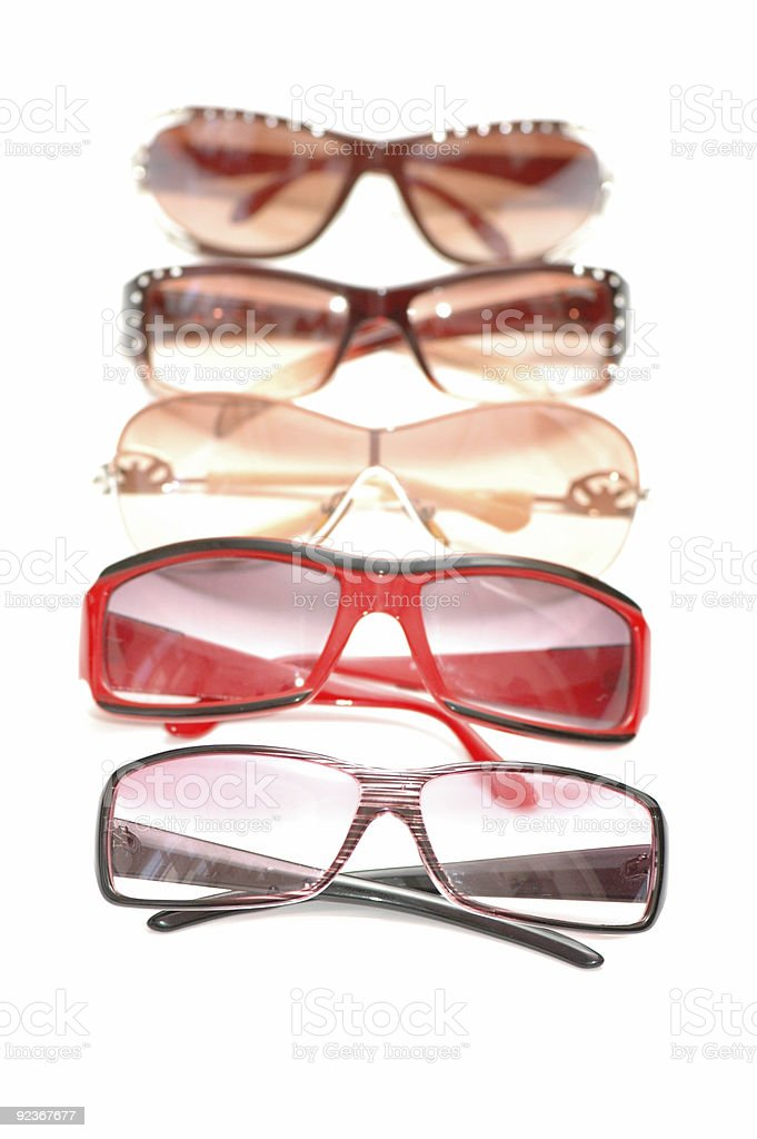 Various sunglasses isolated  on the white background royalty-free stock photo