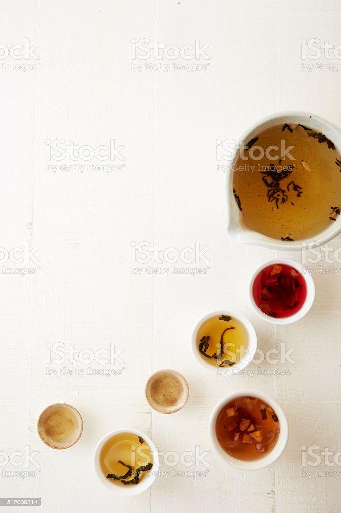 Various tea stock photo