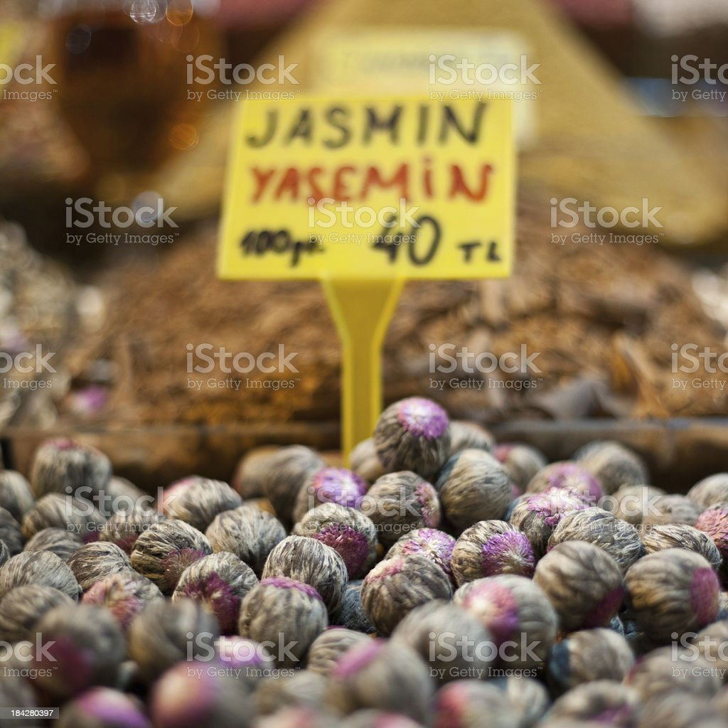 Various Teas In Grand Bazaar stock photo