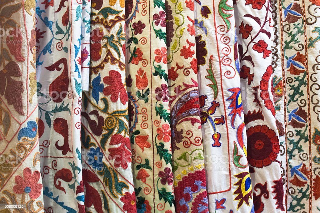 Various textiles, Turkey stock photo