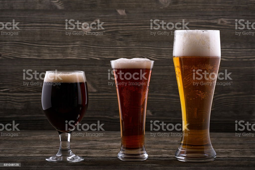 Various types of beer stock photo