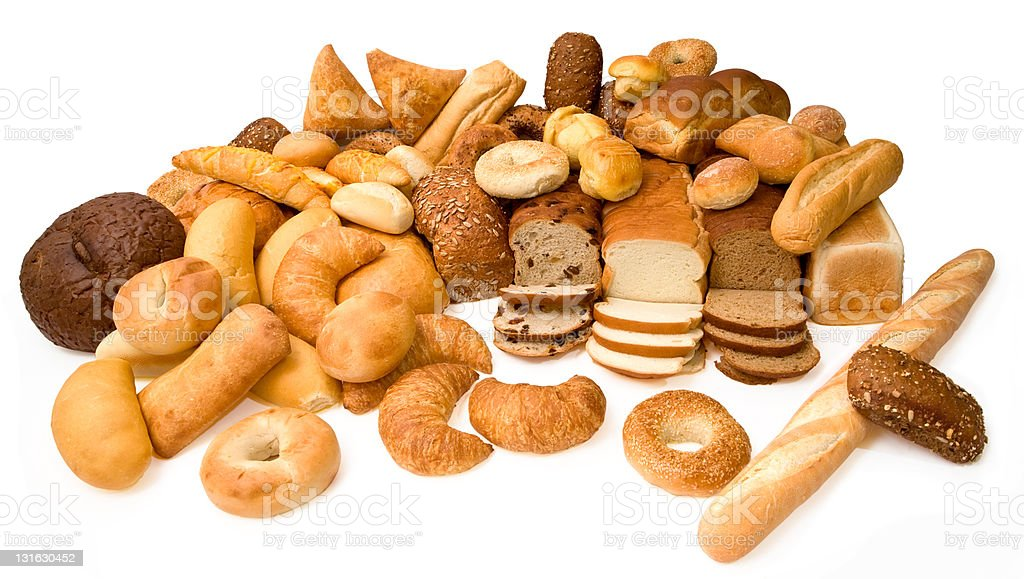 Various Types of Bread royalty-free stock photo