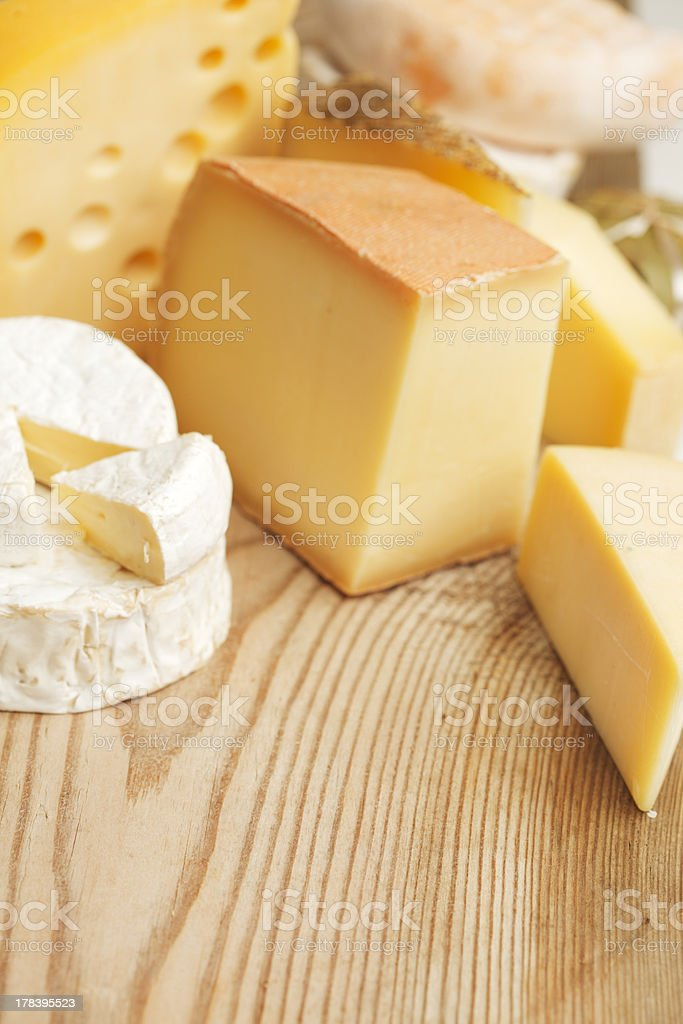Various types of cheese composition royalty-free stock photo
