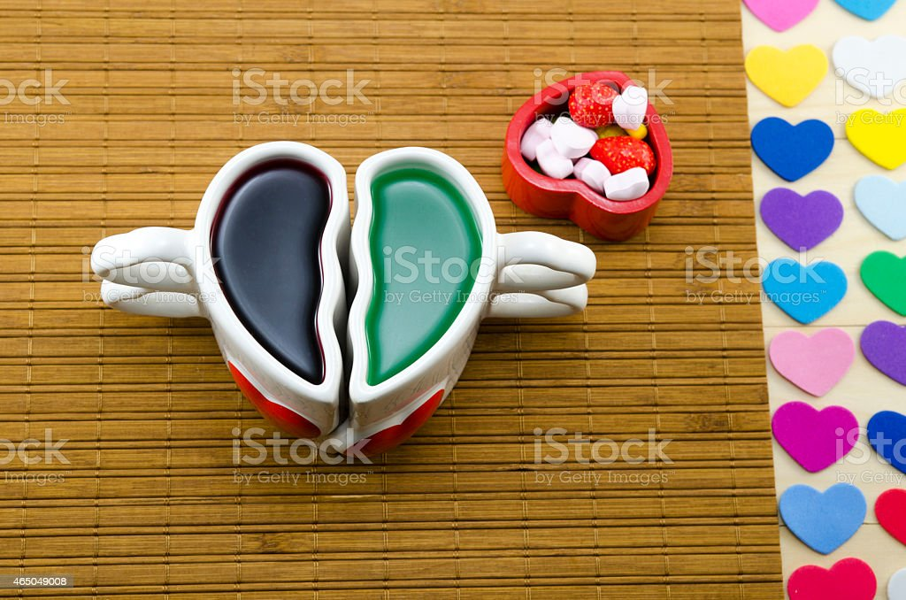 Various types of colorful heart symbols royalty-free stock photo