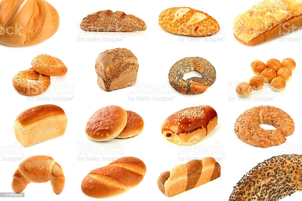 Various types of freshly baked bread royalty-free stock photo