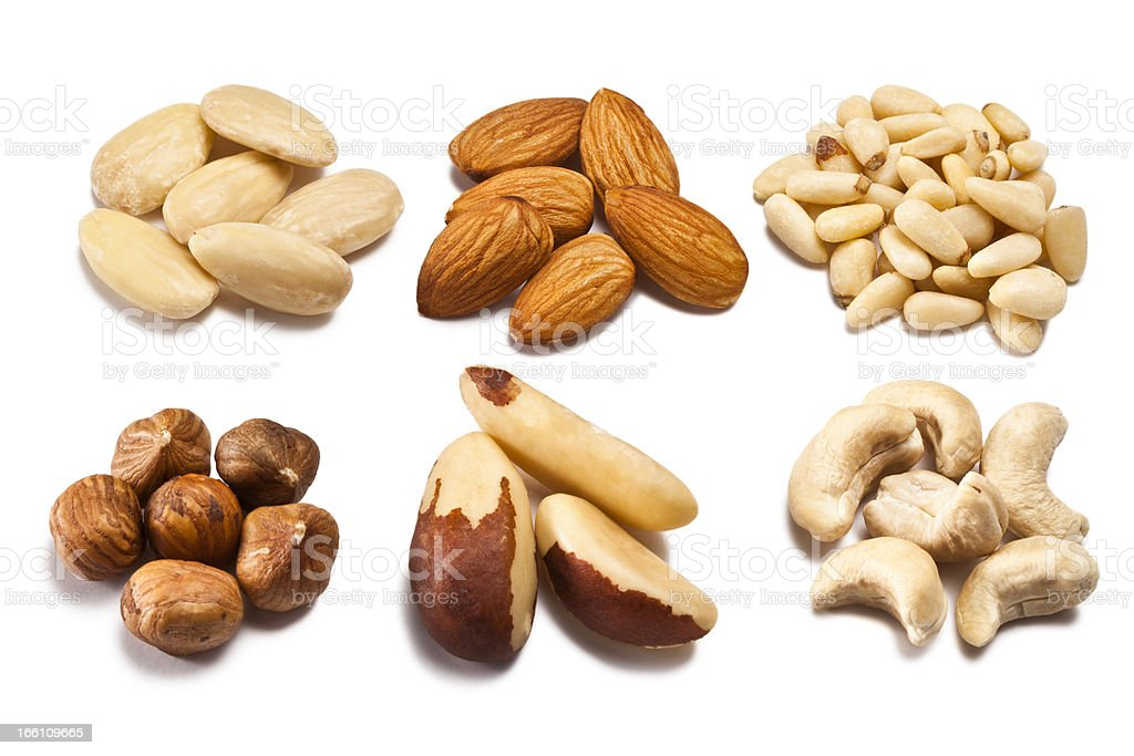 Various types of nuts royalty-free stock photo