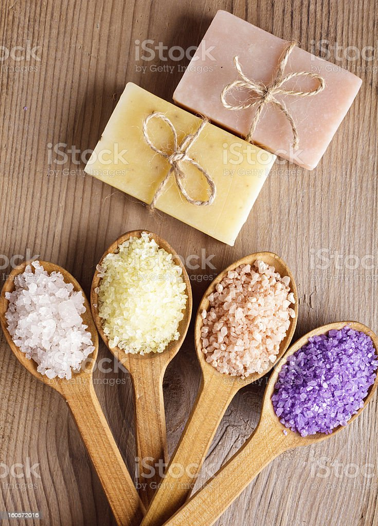 Various types of spa royalty-free stock photo