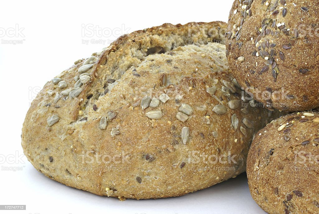 various whole grain breads stock photo