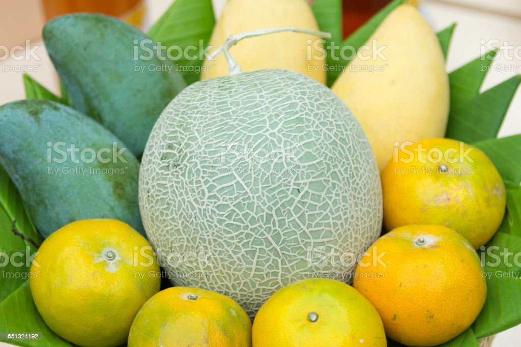 varirety of fresh fruit stock photo