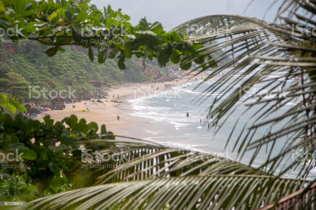 Varkala beach in Kerala state, India stock photo
