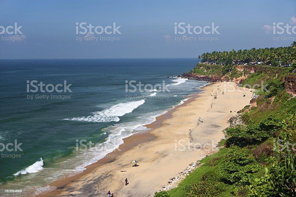 Varkala beach stock photo