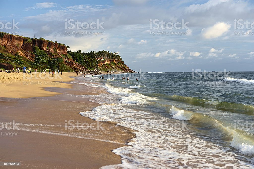Varkala beach royalty-free stock photo