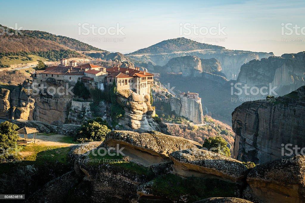Varlaam Monastery in Meteora, Greece stock photo