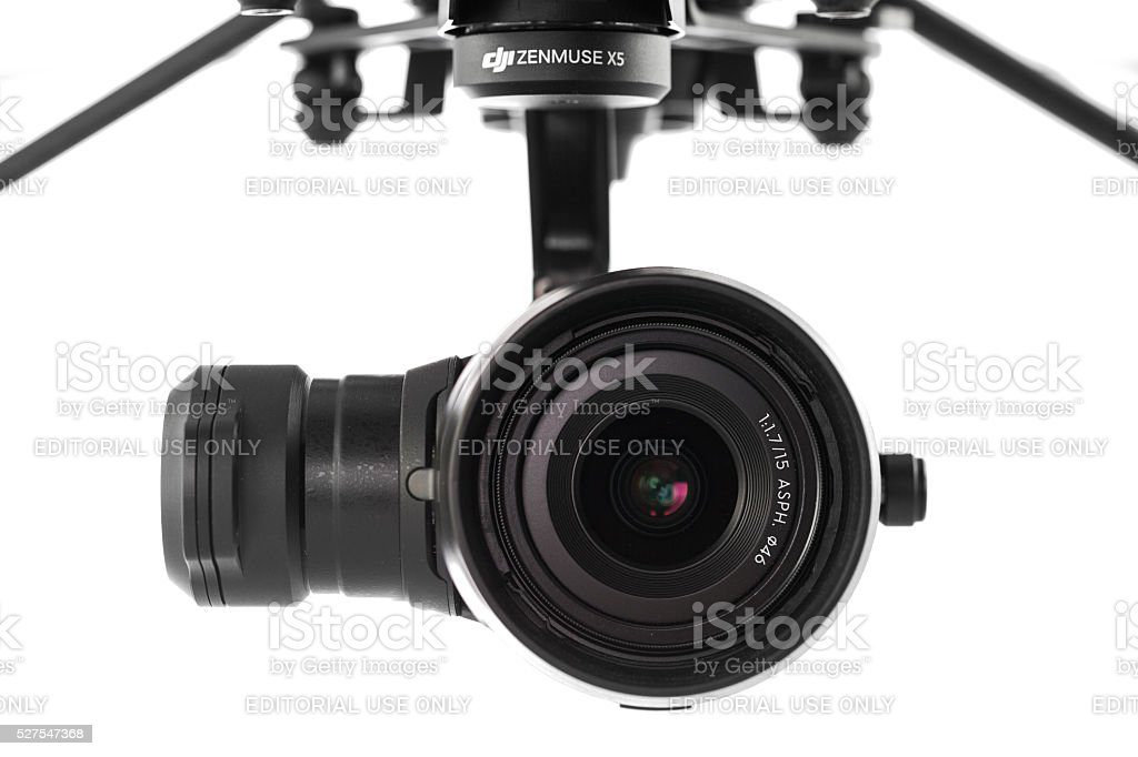 Varna, Bulgaria - April 22 ,2016: DJI Inspire 1 drone stock photo